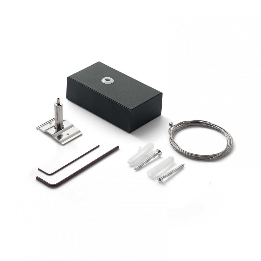 Accesoriu, set un cablu suspensie si alimentare lustre FLUO KIT SINGLE STEEL CABLE 2 MT + WH CEILING CUP, Accesorii Corpuri de iluminat piese de schimb pentru Lustre de interior si exterior.⭐Cumpara online✅ Livrare Rapida!❤️Promotii la accesorii pt lampi❗ Abajururi de rezerva si cabluri potrivite pentru candelabre, pendule suspendate, aplice de perete, plafoniere de tavan, spoturi LED incastrate si aplicate, veioze de masa si birou, lampadare de podea, drivere si conectori sina, dulii si transformatoare electrice. Alege oferte speciale la accesorile de iluminat din casa: baie, living, bucatarie, dormitor, terasa, hol, balcon si gradina❗ Cele mai bune componente de iluminat tehnic pt surse de iluminat, kituri de suspensie, benzi LED, brate, elemente decorative cristal si farfurioare din material (ceramica, sticla, plastic, aluminiu, tesatura, textil, metal, lemn), proiectoare si reflectoare pt spot-uri reglabile cu flux luminos directionabil, ieftine si de lux, cu garantie si de calitate deosebita. Cumpara la comanda sau din stoc, oferte si reduceri speciale cu vanzare rapida din magazine la cele mai bune preturi. Te aşteptăm sa admiri calitatea superioara a produselor noastre live în showroom-urile noastre din Bucuresti si Timisoara❗ a