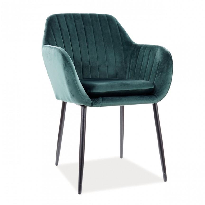 Scaun elegant, pivotant cu tapiterie din catifea Wenus, verde WENUSVCZ SM, Cele mai noi produse 2021 a