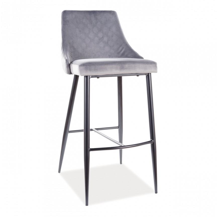 Scaun bar Piano B H-1, tapiterie din catifea gri PIANOBH1VCSZ SM, Scaune de bar inalte⭐ modele moderne reglabile pe inaltime din lemn sau metal pentru bar bucatarie, mese cafenea.❤️Promotii scaune de bar❗ Intra si vezi poze ➽ www.evalight.ro. ➽ sursa ta de inspiratie online❗ ✅Design de lux original premium actual Top 2020❗ Alege scaunele de bar potrivite pt pult casa si mobilier dining si restaurant HoReCa, stil vintage (retro si industriale), tip taburete, rotative, rezistente, cu sejut din plastic sau tapitate cu catifea, piele naturala (ecologica), din material textil, cu spatar si brate, picioare lemn, metalice cu rotile, pivotante cu piston, cu roti, pliabile, intra ➽vezi oferte si reduceri cu vanzare rapida din stoc, ieftine si de calitate deosebita la cel mai bun pret. a
