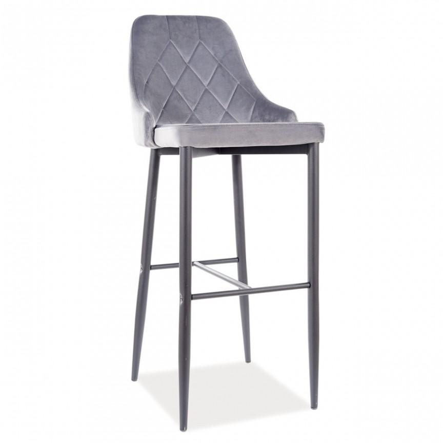 Scaun bar Trix B H-1, tapiterie din catifea gri TRIXBH1VCSZ SM, Scaune de bar inalte⭐ modele moderne reglabile pe inaltime din lemn sau metal pentru bar bucatarie, mese cafenea.❤️Promotii scaune de bar❗ Intra si vezi poze ➽ www.evalight.ro. ➽ sursa ta de inspiratie online❗ ✅Design de lux original premium actual Top 2020❗ Alege scaunele de bar potrivite pt pult casa si mobilier dining si restaurant HoReCa, stil vintage (retro si industriale), tip taburete, rotative, rezistente, cu sejut din plastic sau tapitate cu catifea, piele naturala (ecologica), din material textil, cu spatar si brate, picioare lemn, metalice cu rotile, pivotante cu piston, cu roti, pliabile, intra ➽vezi oferte si reduceri cu vanzare rapida din stoc, ieftine si de calitate deosebita la cel mai bun pret. a