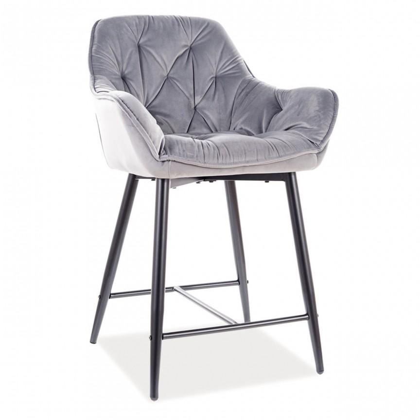 Scaun bar Cherry H-2, tapiterie din catifea gri CHERRYH2VCSZ SM, Scaune de bar inalte⭐ modele moderne reglabile pe inaltime din lemn sau metal pentru bar bucatarie, mese cafenea.❤️Promotii scaune de bar❗ Intra si vezi poze ➽ www.evalight.ro. ➽ sursa ta de inspiratie online❗ ✅Design de lux original premium actual Top 2020❗ Alege scaunele de bar potrivite pt pult casa si mobilier dining si restaurant HoReCa, stil vintage (retro si industriale), tip taburete, rotative, rezistente, cu sejut din plastic sau tapitate cu catifea, piele naturala (ecologica), din material textil, cu spatar si brate, picioare lemn, metalice cu rotile, pivotante cu piston, cu roti, pliabile, intra ➽vezi oferte si reduceri cu vanzare rapida din stoc, ieftine si de calitate deosebita la cel mai bun pret. a