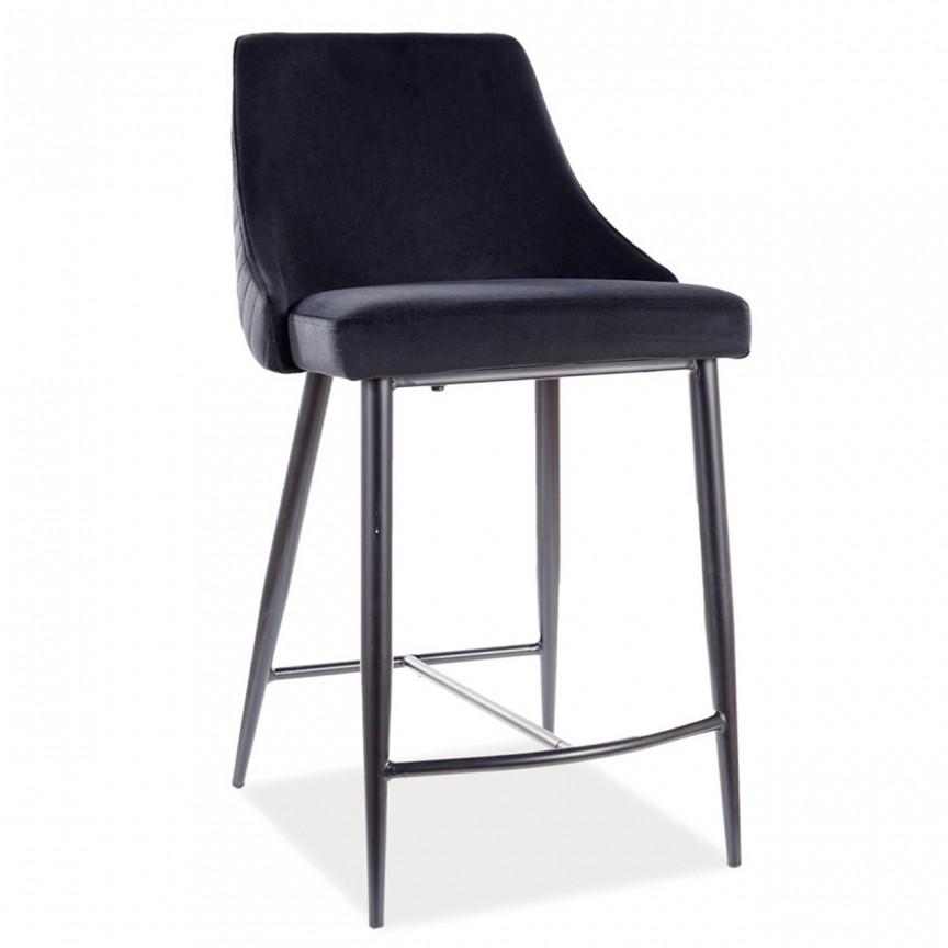 Scaun bar Piano B H-2, tapiterie din catifea negru PIANOBH2VCSZ SM, Scaune de bar inalte⭐ modele moderne reglabile pe inaltime din lemn sau metal pentru bar bucatarie, mese cafenea.❤️Promotii scaune de bar❗ Intra si vezi poze ➽ www.evalight.ro. ➽ sursa ta de inspiratie online❗ ✅Design de lux original premium actual Top 2020❗ Alege scaunele de bar potrivite pt pult casa si mobilier dining si restaurant HoReCa, stil vintage (retro si industriale), tip taburete, rotative, rezistente, cu sejut din plastic sau tapitate cu catifea, piele naturala (ecologica), din material textil, cu spatar si brate, picioare lemn, metalice cu rotile, pivotante cu piston, cu roti, pliabile, intra ➽vezi oferte si reduceri cu vanzare rapida din stoc, ieftine si de calitate deosebita la cel mai bun pret. a