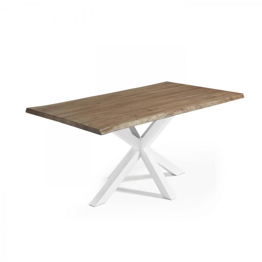 Masa cu blat din lemn ARYA 180x100cm otel alb/ stejar antic C361M90 JG, Promotii si Reduceri⭐ Oferte ✅Corpuri de iluminat ✅Lustre ✅Mobila ✅Decoratiuni de interior si exterior.⭕Pret redus online➜Lichidari de stoc❗ Magazin ➽ www.evalight.ro. a