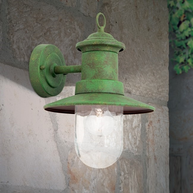 Aplica de iluminat exterior stil clasic LEONIE verde vintage, Aplice de exterior clasice, rustice, traditionale⭐ lampi de perete pentru iluminat exterior terasa casa.✅Design decorativ 2021!❤️Promotii online❗ Magazin➽www.evalight.ro. Alege oferte la corpuri de iluminat exterior rezistente la apa tip felinar din metal antichizat, abajur din sticla cu decor ornamental, bec LED si lumina ambientala, ieftine si de lux, calitate deosebita la cel mai bun pret. a