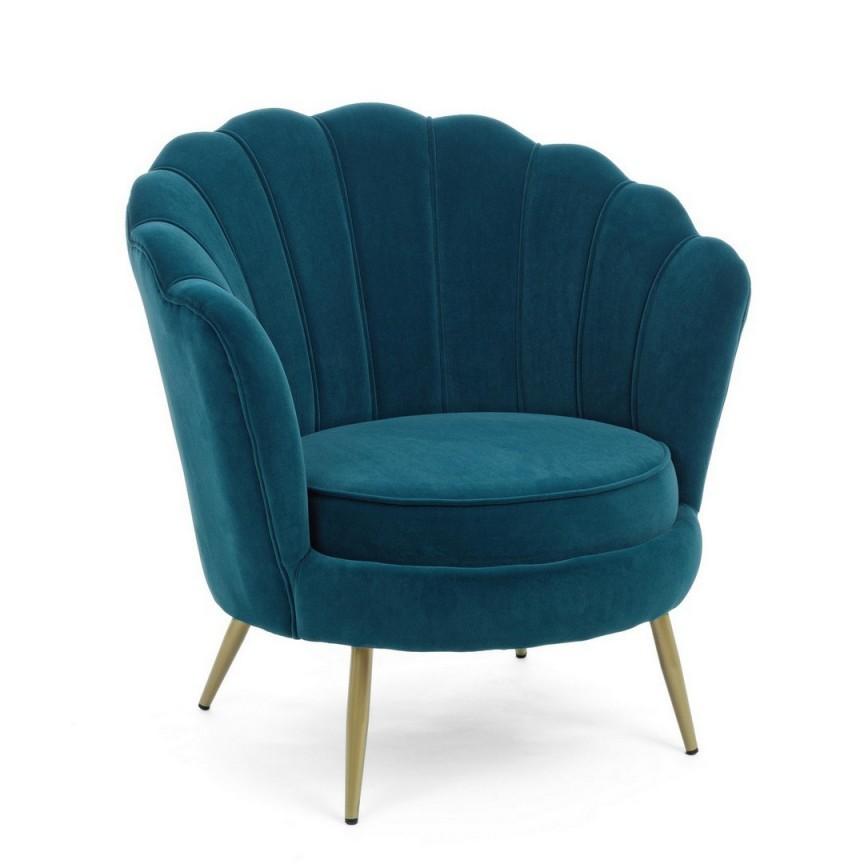 Fotoliu design vintage GILIOLA, BLUE PEACOCK 0743682 BZ, Cele mai noi produse 2021 a