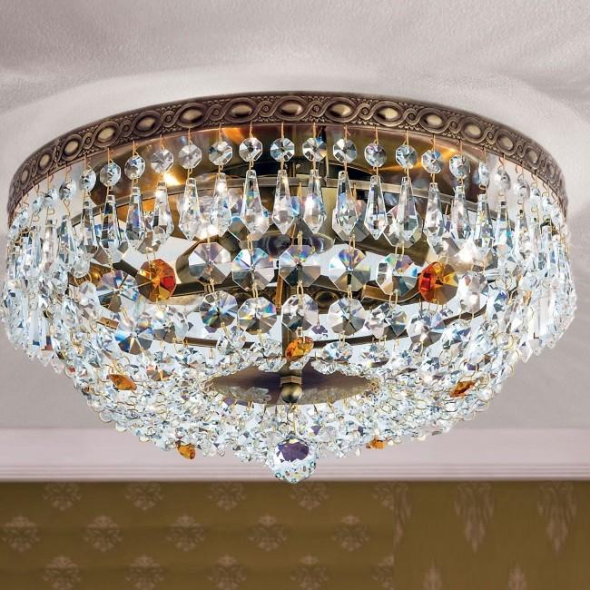 Lustra aplicata cristal Schöler design de lux Sheraton 35cm, antique brass, Cele mai noi produse 2021 a