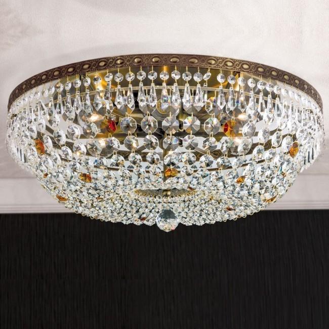 Lustra aplicata cristal Schöler design de lux Sheraton 55cm, antique brass, Cele mai noi produse 2021 a