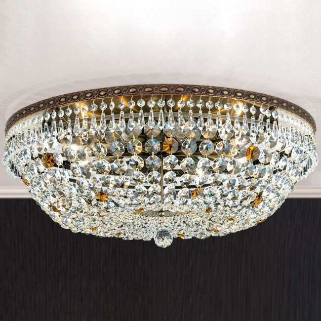 Lustra aplicata cristal Schöler design de lux Sheraton 65cm, antique brass, Cele mai noi produse 2021 a