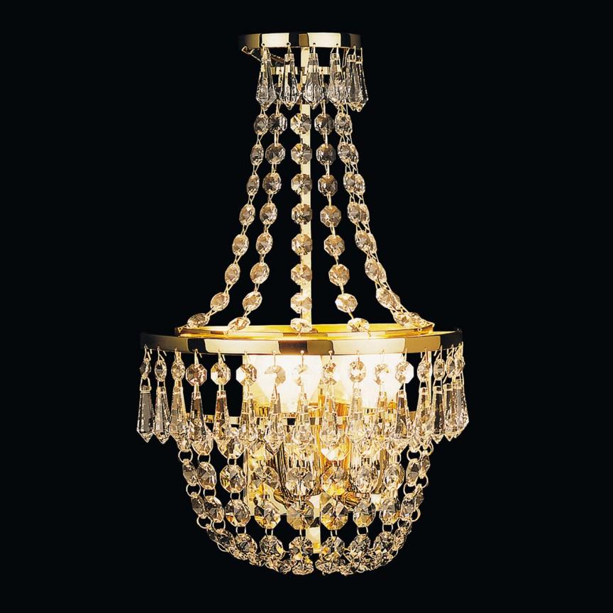 Aplica de perete cristal Schöler design de lux Sheraton 2L, 24K gold plated, Cele mai noi produse 2021 a