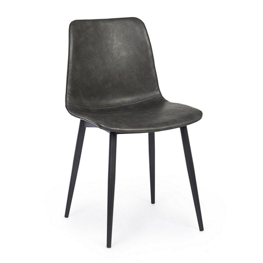 Set de 2 scaune KYRA GREY VINTAGE 0734312 BZ, Seturi scaune dining si scaune HoReCa⭐ modele la set scaune tapitate moderne de lux pentru bucatarie, living si sufragerie.✅DeSiGn Top 2021❗ Magazin online ➽www.evalight.ro. Alege oferte la scaune elegante stil vintage, cadru metalic sau din lemn pt hotel si de restaurant, bar, cafenea, terasa si gradina, ieftine de calitate deosebita la cel mai bun pret. a