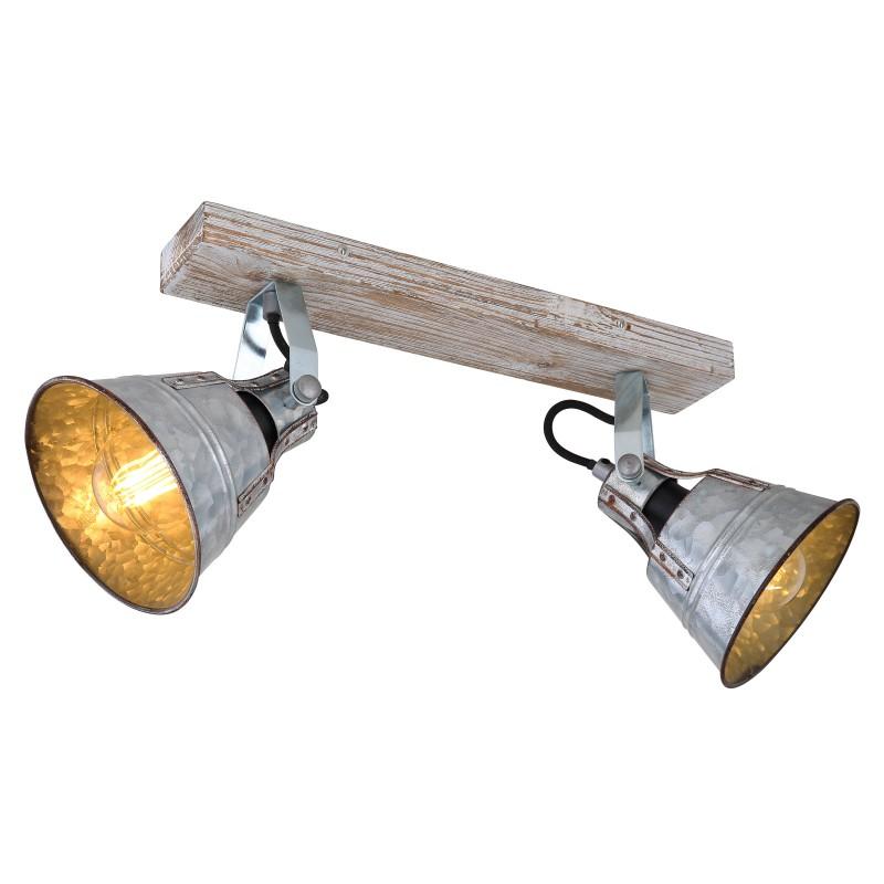 Aplica de perete / tavan stil industrial cu 2 spoturi GÜNTHER I, Aplice aplicate perete sau tavan cu spoturi, LED⭐ modele moderne corpuri de iluminat tip spoturi pe bara.✅Design decorativ 2021!❤️Promotii lampi❗ ➽ www.evalight.ro. Alege oferte aplice de iluminat interior, lustre si plafoniere cu 2 spoturi cu lumina LED si directie reglabila, spot orientabil cu intrerupator, simple si ieftine de calitate la cel mai bun pret. a