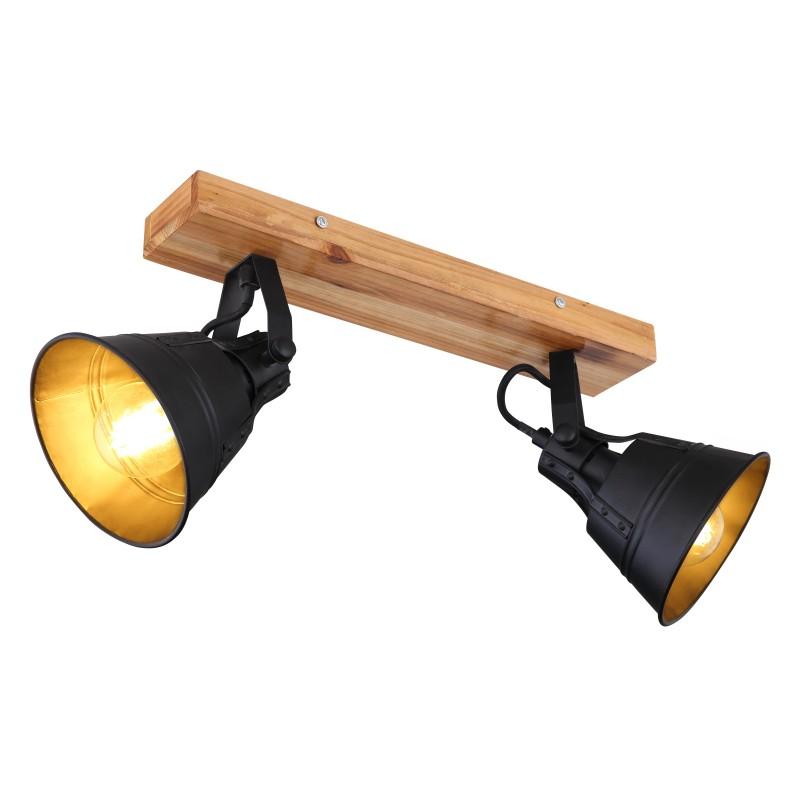 Aplica de perete / tavan stil industrial cu 2 spoturi GÜNTHER, Aplice aplicate perete sau tavan cu spoturi, LED⭐ modele moderne corpuri de iluminat tip spoturi pe bara.✅Design decorativ 2021!❤️Promotii lampi❗ ➽ www.evalight.ro. Alege oferte aplice de iluminat interior, lustre si plafoniere cu 2 spoturi cu lumina LED si directie reglabila, spot orientabil cu intrerupator, simple si ieftine de calitate la cel mai bun pret. a