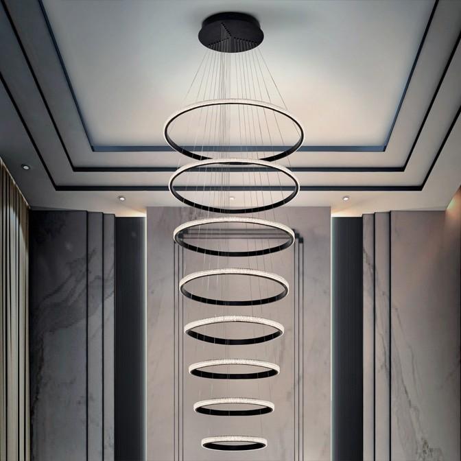 LUSTRA XXL LED DIMABILA prin BLUETOOTH Ring Ø80cm, 4000K SV-717694B, Lustre si corpuri de iluminat pentru casa scarii⭐ candelabre mari elegante de lux, decorate cu cristale, stil modern.✅DeSiGn decorativ 2021❗ Magazin ➽ www.evalight.ro. Alege oferte la colectile NOI de corpuri de iluminat interior suspendate de tip suspensii, modele potrivite pt HoReCa (hotel, receptie restaurant, pensiune, bar), spatii comerciale sau case spatioase cu tavan înalt, calitate deosebita la cel mai bun pret. a