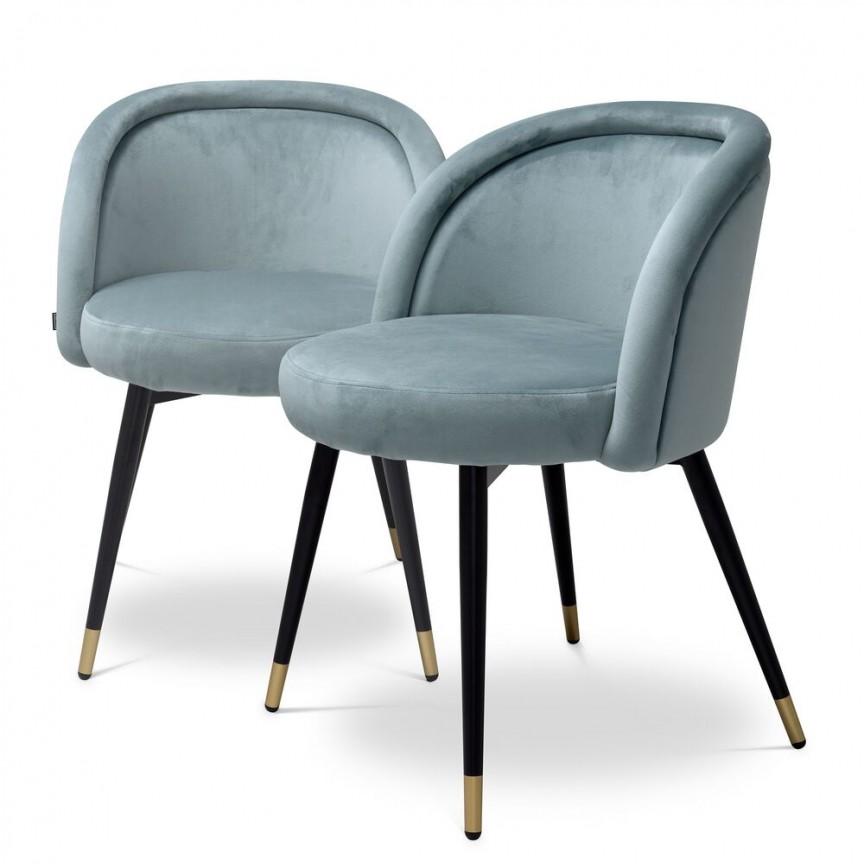 Set de 2 scaune design LUX Chloe, albastru 115965 HZ, Seturi scaune dining si scaune HoReCa⭐ modele la set scaune tapitate moderne de lux pentru bucatarie, living si sufragerie.✅DeSiGn Top 2021❗ Magazin online ➽www.evalight.ro. Alege oferte la scaune elegante stil vintage, cadru metalic sau din lemn pt hotel si de restaurant, bar, cafenea, terasa si gradina, ieftine de calitate deosebita la cel mai bun pret. a