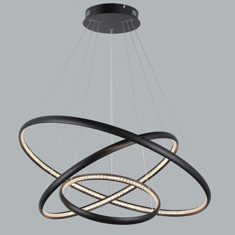 Lustra LED suspendata design modern circular Brighton 3 BK, Cele mai noi produse 2021 a