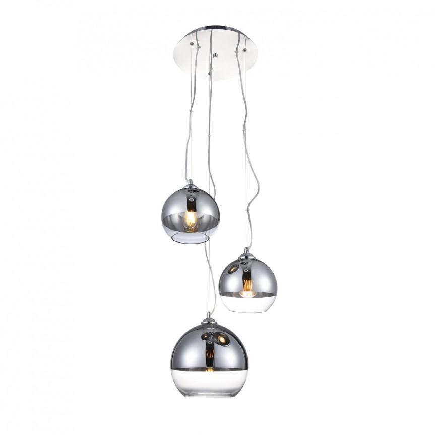 Lustra design modern Silver Ball 3, Cele mai noi produse 2021 a
