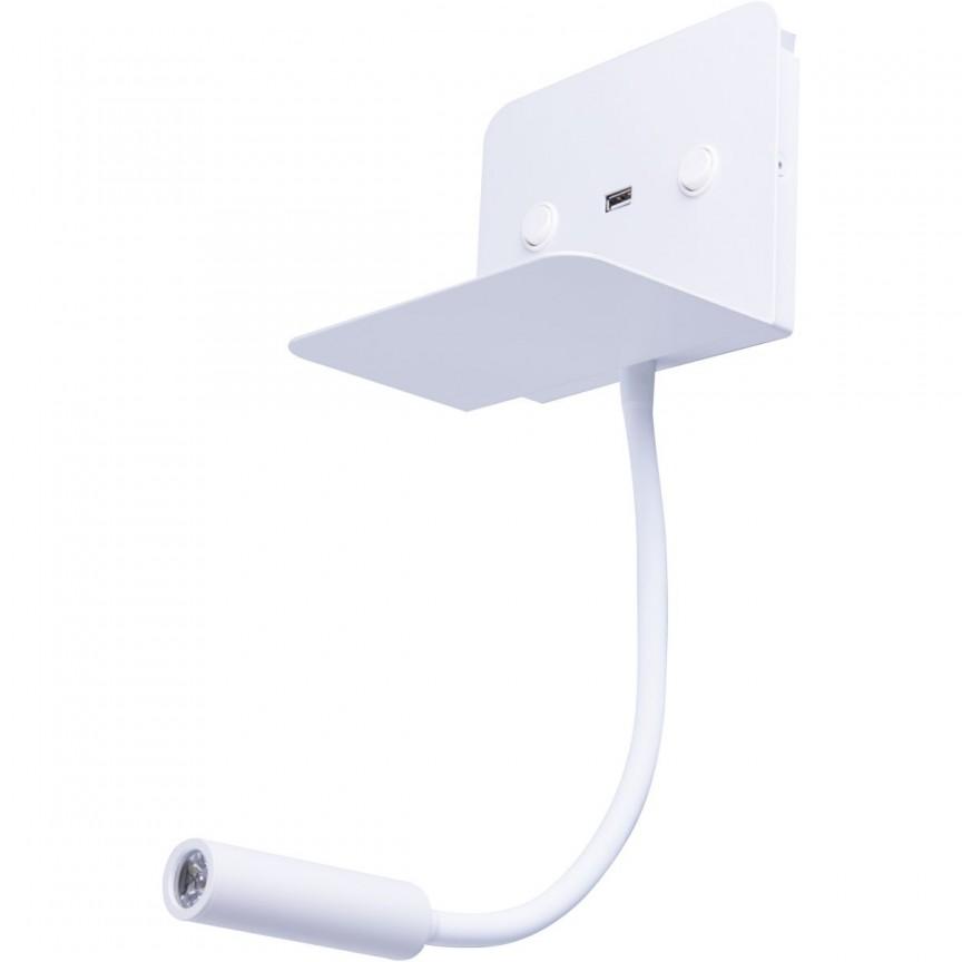 Aplica LED ambientala cu reader LED directionabil Vera alba, Cele mai noi produse 2021 a