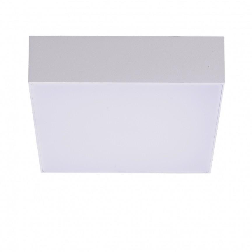 Plafoniera LED pentru exterior IP54 CASPER SQUARE 3000K WH, Plafoniere exterior⭐ lampi de iluminat exterior rustice, clasice, moderne pentru terasa casa.✅Design cu LED decorativ 2021!❤️Promotii online❗ Magazin➽www.evalight.ro. Alege oferte la corpuri de iluminat exterior rezistente la apa, tip aplice si spoturi aplicate pt tavan sau perete, solare cu senzori de miscare, metalice, abajur din sticla cu decor ornamental, ieftine si de lux, calitate deosebita la cel mai bun pret. a