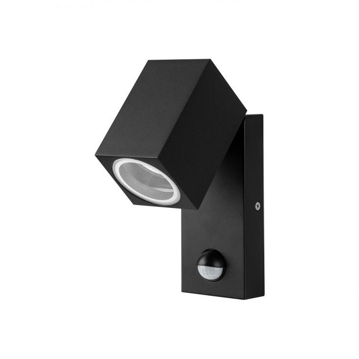 Aplica de exterior cu senzor de miscare IP44 GORAN negru, Iluminat cu senzor de miscare, LED⭐ modele stil decorativ potrivite pentru iluminat exterior casa, gradina si terasa.✅Design ornamental 2021!❤️Promotii lampi exterior cu senzor de miscare❗ Magazin online➽www.evalight.ro. Alege oferte la corpuri de iluminat exterior cu senzor de miscare, tip aplice exterior de perete sau tavan, plafoniere exterior, proiectoare LED fatade cladiri, stalpi iluminat si felinare cu lumina ambientala, moderne, clasice, rustice si traditionale, cu aspect retro sau vintage, industrial, solare cu panou solar, cu bec LED economic, pt iluminare curte, alei, foisoare, ieftine si de lux, calitate la cel mai bun pret. a