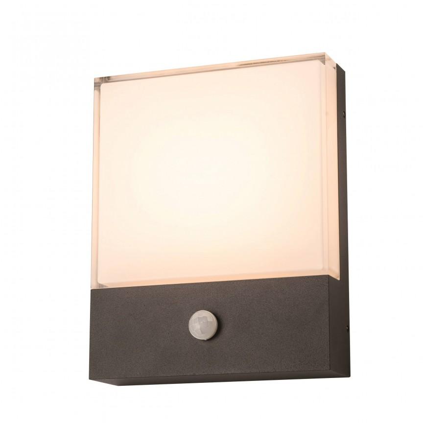 Aplica de perete LED exterior cu senzor de miscare IP54 CIVITA, Iluminat cu senzor de miscare, LED⭐ modele stil decorativ potrivite pentru iluminat exterior casa, gradina si terasa.✅Design ornamental 2021!❤️Promotii lampi exterior cu senzor de miscare❗ Magazin online➽www.evalight.ro. Alege oferte la corpuri de iluminat exterior cu senzor de miscare, tip aplice exterior de perete sau tavan, plafoniere exterior, proiectoare LED fatade cladiri, stalpi iluminat si felinare cu lumina ambientala, moderne, clasice, rustice si traditionale, cu aspect retro sau vintage, industrial, solare cu panou solar, cu bec LED economic, pt iluminare curte, alei, foisoare, ieftine si de lux, calitate la cel mai bun pret. a