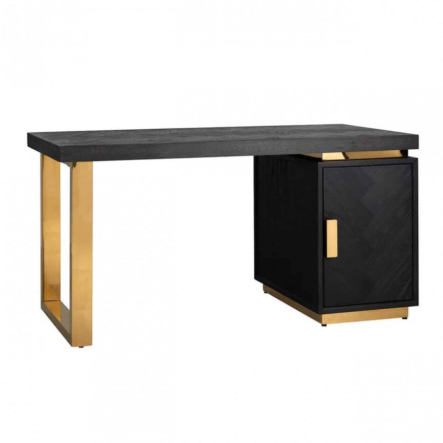 Birou modern design LUX Blackbone gold 1-door, Promotii si Reduceri⭐ Oferte ✅Corpuri de iluminat ✅Lustre ✅Mobila ✅Decoratiuni de interior si exterior.⭕Pret redus online➜Lichidari de stoc❗ Magazin ➽ www.evalight.ro. a