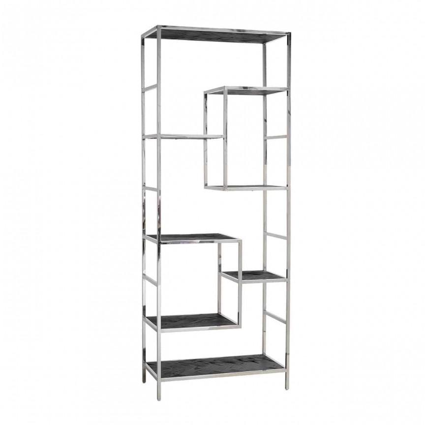 Raft modern design LUX Blackbone silver, Promotii si Reduceri⭐ Oferte ✅Corpuri de iluminat ✅Lustre ✅Mobila ✅Decoratiuni de interior si exterior.⭕Pret redus online➜Lichidari de stoc❗ Magazin ➽ www.evalight.ro. a