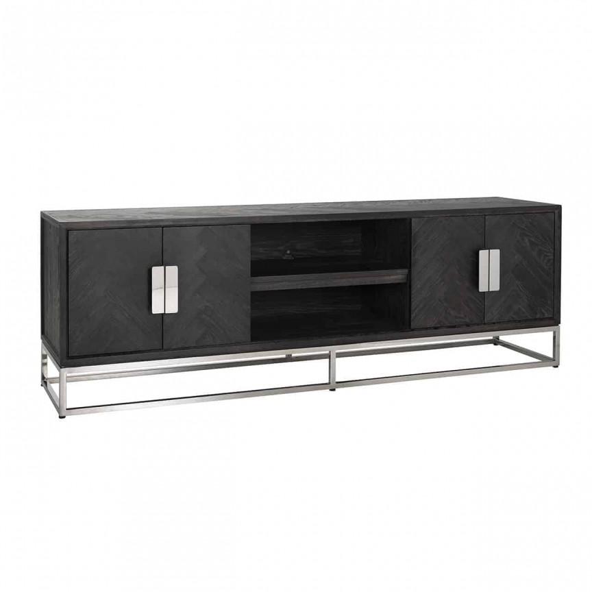 Comoda TV moderna design LUX Blackbone silver 4-doors 185, Cele mai noi produse 2021 a