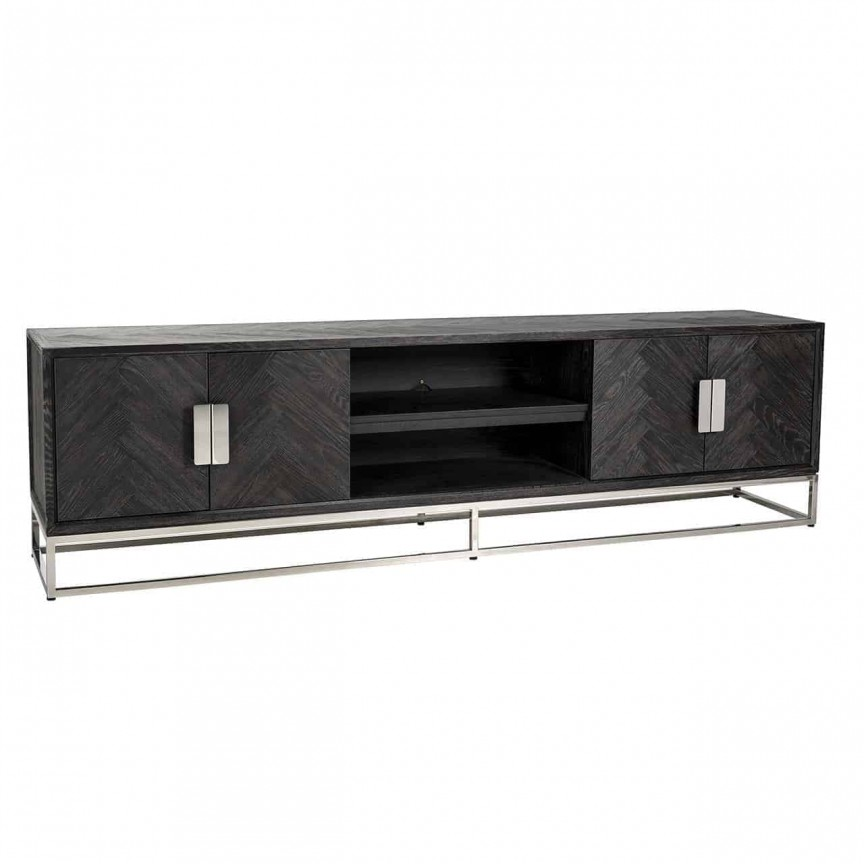 Comoda TV moderna design LUX Blackbone silver 4-doors 220, Cele mai noi produse 2021 a