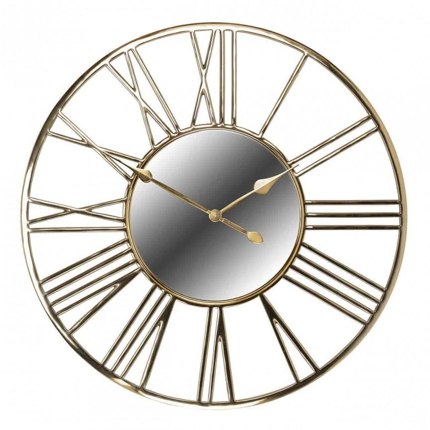 Ceas de perete din metal si oglinda Willson diametru 92cm, Cele mai noi produse 2021 a
