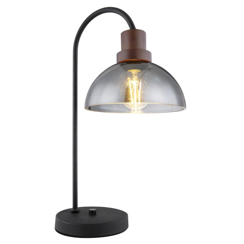 Veioza, lampa de masa design modern Salsa lemn 15562T GL, Cele mai noi produse 2021 a