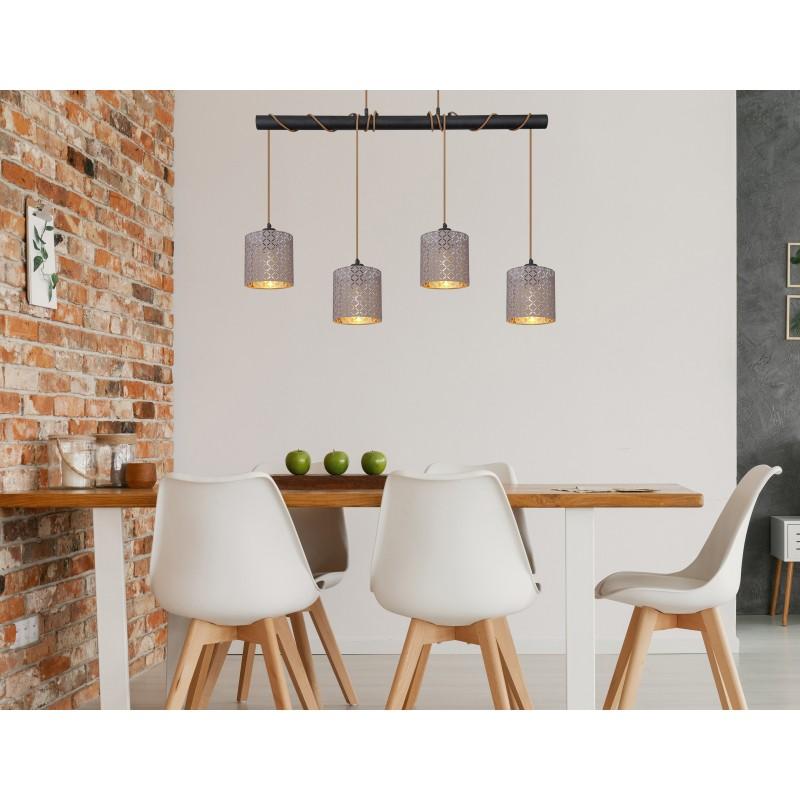 Lustra suspendata design modern CINDY 15584-4H1 GL, Cele mai noi produse 2021 a