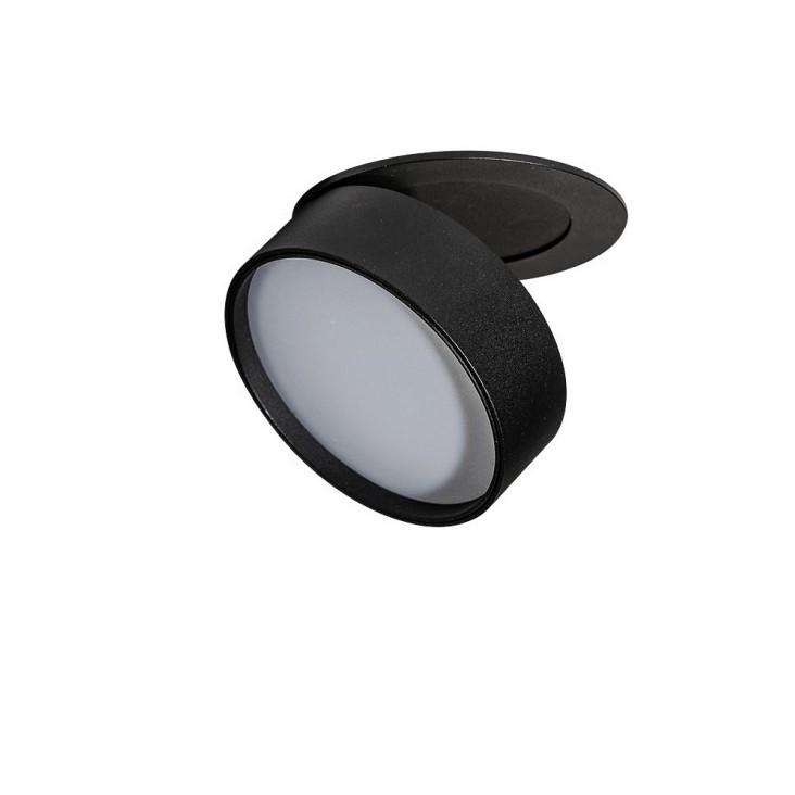 Spot LED incastrat directionabil de tavan/plafon MONA 12W 3000K negru, Cele mai noi produse 2021 a