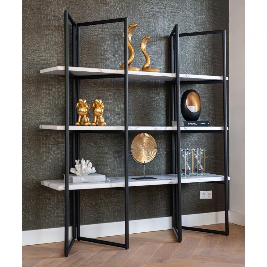 Raft modern design LUX Lagrand Black 3-shelves, Promotii si Reduceri⭐ Oferte ✅Corpuri de iluminat ✅Lustre ✅Mobila ✅Decoratiuni de interior si exterior.⭕Pret redus online➜Lichidari de stoc❗ Magazin ➽ www.evalight.ro. a