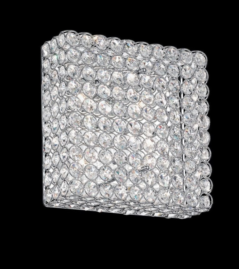 Aplica de perete cristal Venezian dim. 30x30cm ADMIRAL PL4 Cromo, PROMOTII, Corpuri de iluminat, lustre, aplice, veioze, lampadare, plafoniere. Mobilier si decoratiuni, oglinzi, scaune, fotolii. Oferte speciale iluminat interior si exterior. Livram in toata tara.  a