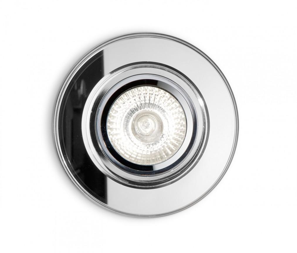 Spot tavan fals diam.9,5cm, BLUES FI1 TRASPARENTE 083254 , Spoturi incastrate, aplicate - tavan / perete, Corpuri de iluminat, lustre, aplice a