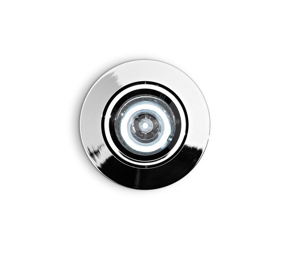 Spot orientabil incastrat diam.6,5cm, LED DELTA FI1 crom 060941 , Spoturi incastrate, aplicate - tavan / perete, Corpuri de iluminat, lustre, aplice a