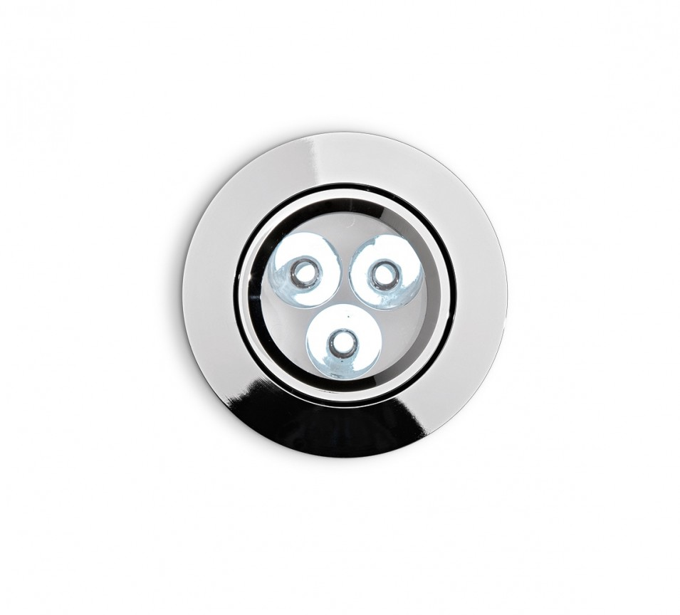 Spot orientabil incastrat diam.8,5cm, LED DELTA FI3 crom 060910, Spoturi incastrate, aplicate - tavan / perete, Corpuri de iluminat, lustre, aplice a