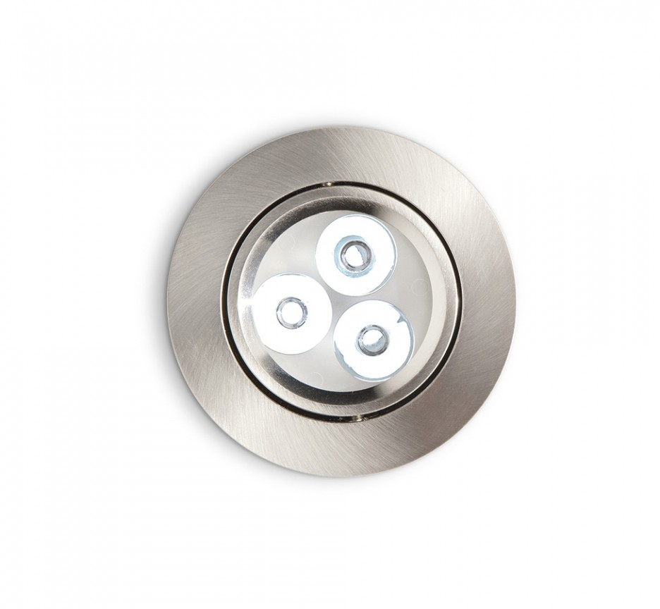 Spot orientabil incastrat diam.8,5cm, LED DELTA FI3 nickel 060927, Spoturi incastrate, aplicate - tavan / perete, Corpuri de iluminat, lustre, aplice a