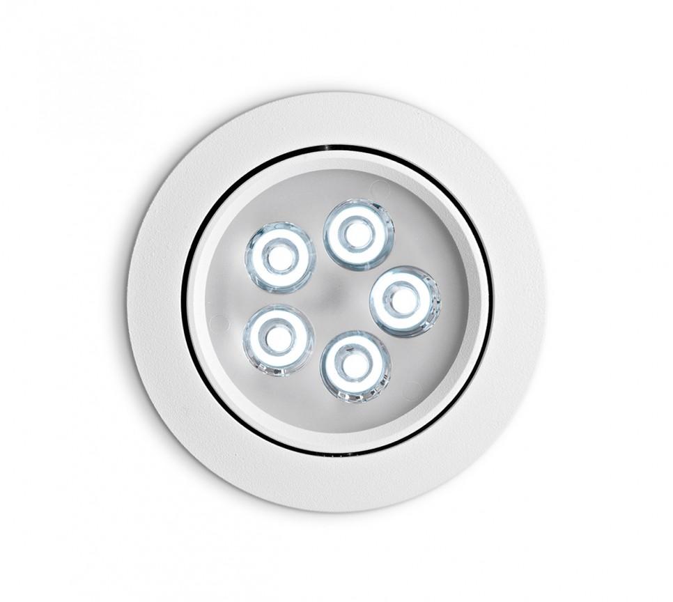 Spot orientabil incastrat diam.10,5cm, LED DELTA FI5 alb 062402, Spoturi incastrate, aplicate - tavan / perete, Corpuri de iluminat, lustre, aplice a