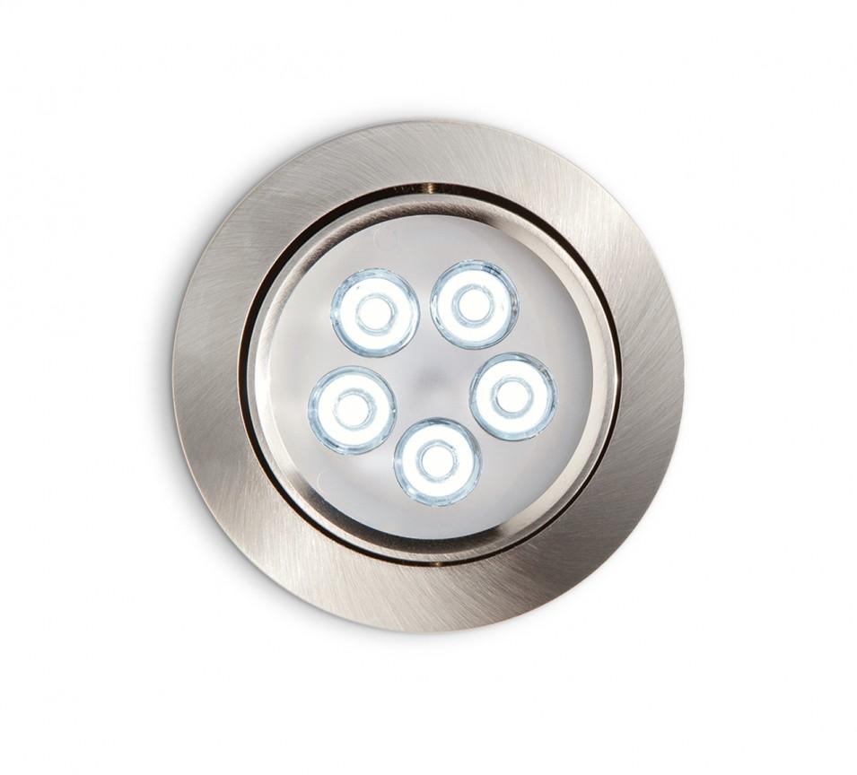 Spot orientabil incastrat diam.10,5cm, LED DELTA FI5 nickel 060934, Spoturi incastrate, aplicate - tavan / perete, Corpuri de iluminat, lustre, aplice a