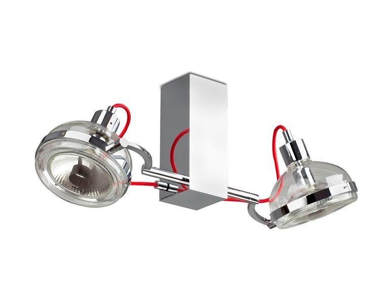 Plafonier cu 2 spoturi, realizat manual, Glop DV00011 DressLight Barcelona, Spoturi incastrate, aplicate - tavan / perete, Corpuri de iluminat, lustre, aplice a