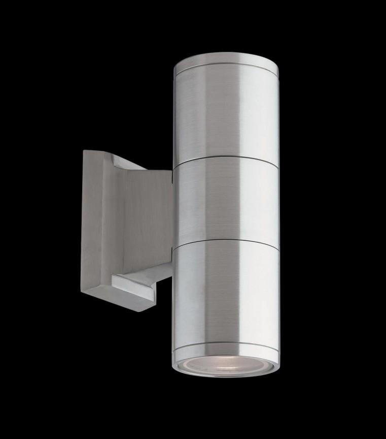 Aplica de perete exterior IP44 GUN AP2 SMALL ALLUMINIO 033013, Magazin, Corpuri de iluminat, lustre, aplice, veioze, lampadare, plafoniere. Mobilier si decoratiuni, oglinzi, scaune, fotolii. Oferte speciale iluminat interior si exterior. Livram in toata tara.  a