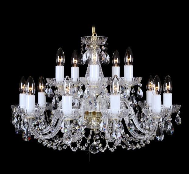 Lustra 15 brate cristal Bohemia L11 006/15/1-A, Lustre Cristal Bohemia, Corpuri de iluminat, lustre, aplice, veioze, lampadare, plafoniere. Mobilier si decoratiuni, oglinzi, scaune, fotolii. Oferte speciale iluminat interior si exterior. Livram in toata tara.  a