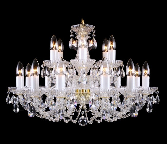 Lustra 18 brate cristal Bohemia L11 006/18/1-A, Lustre Cristal Bohemia, Corpuri de iluminat, lustre, aplice, veioze, lampadare, plafoniere. Mobilier si decoratiuni, oglinzi, scaune, fotolii. Oferte speciale iluminat interior si exterior. Livram in toata tara.  a