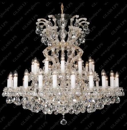 Lustra 37 brate Maria Theresa cristal Bohemia L14 903/37/1; F wide, LUSTRE CRISTAL, Corpuri de iluminat, lustre, aplice, veioze, lampadare, plafoniere. Mobilier si decoratiuni, oglinzi, scaune, fotolii. Oferte speciale iluminat interior si exterior. Livram in toata tara.  a