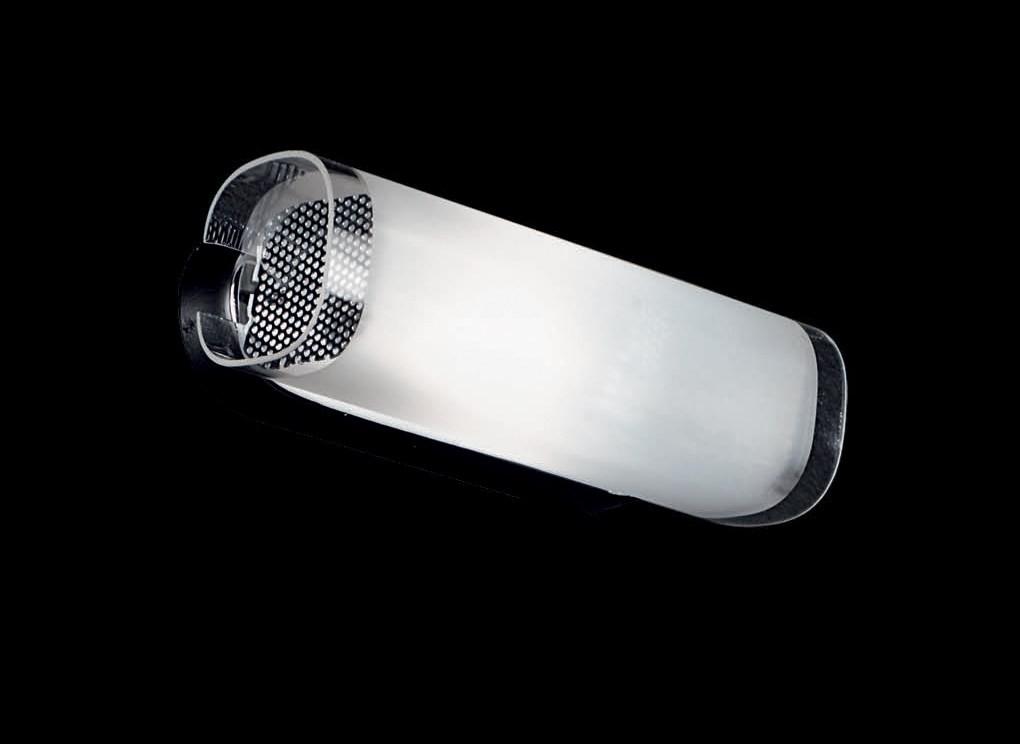 Aplica metal chrome, glass satinat LULU AP1 60774, Magazin, Corpuri de iluminat, lustre, aplice, veioze, lampadare, plafoniere. Mobilier si decoratiuni, oglinzi, scaune, fotolii. Oferte speciale iluminat interior si exterior. Livram in toata tara.  a
