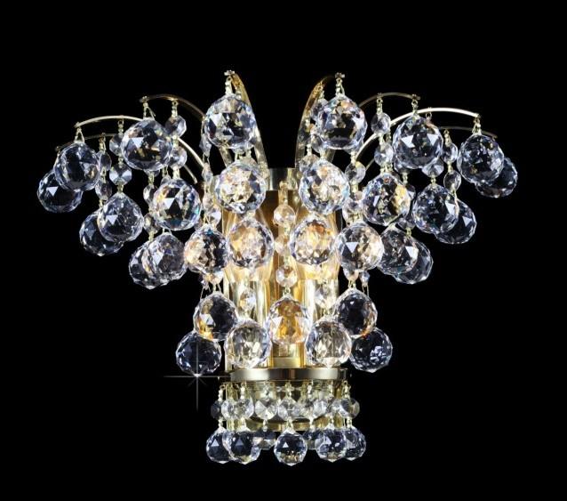 Aplica de perete cristal Bohemia N27 555/02/4, Magazin, Corpuri de iluminat, lustre, aplice, veioze, lampadare, plafoniere. Mobilier si decoratiuni, oglinzi, scaune, fotolii. Oferte speciale iluminat interior si exterior. Livram in toata tara.  a
