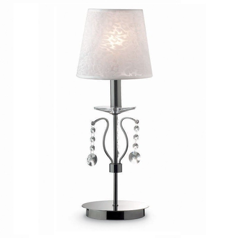 Veioza, lampa de masa cristal Venezian SENIX TL1 SMALL 032634, Veioze, Lampi de masa, Corpuri de iluminat, lustre, aplice a