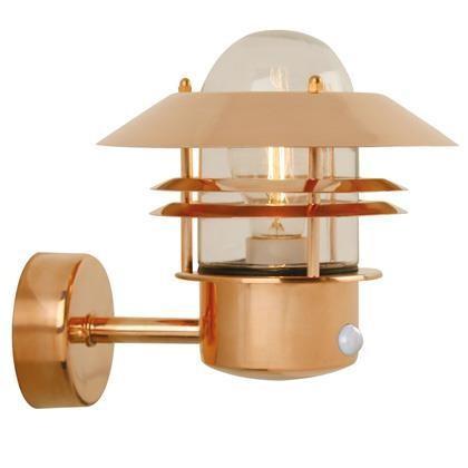 Aplica de perete exterior cu senzor IP54, Blokhus cupru 25031030NL, ILUMINAT EXTERIOR, Corpuri de iluminat, lustre, aplice a