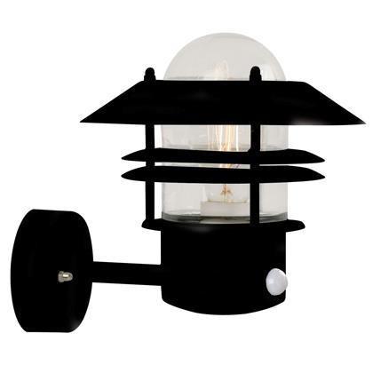 Aplica de perete exterior cu senzor IP54, Blokhus GS negru 25031003NL, ILUMINAT EXTERIOR, Corpuri de iluminat, lustre, aplice a